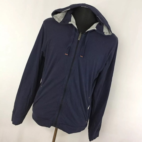Hugo Boss Orange XL Jacket Reversible Navy Blue